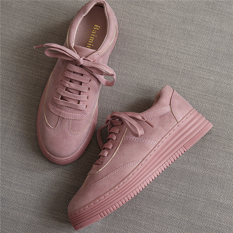 17 Women White Shoes Autumn Winter Soft Comfortable Casual Shoes Flats Platform Sneakers Real Leather Shoes Sapato Feminino 13
