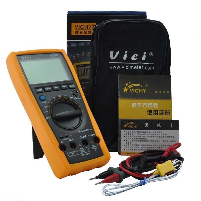 VICI Original VC99 Auto Range Digital Multimeter Ammeter Voltmeter Temperature Tester with pouch bag<br><br>Aliexpress