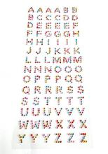 12sheet Mix Color Crystal Alphabet LETTER NUMBER Sticker Scrapbook Self Adhesive Rhinestone Paper Craft Photo Wedding Gifts DIY