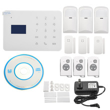 Durable Quality Hot Selling Wireless LCD GSM SMS Home Security Home Fire Alarm System Auto Dialer IR Sensor Free Shipping