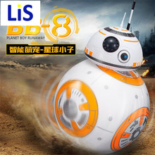 Lis Free Shipping Intelligent Star Wars Upgrade RC BB8 Robot With Sound Action Figure Gift Toys BB-8 Ball Robot Remote Control