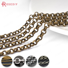 (15900)2 Meters or 5 Meters 2MM 3MM 3.8MM Iron or Brass Round Link Chains Necklace Chains Diy Jewelry Findings Accessories(China)