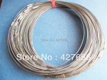 20pcs 18inch 12 Colors Round Stainless Steel Memory Wire Necklace Chain Hoop Chocker,1mm With Twist Clasp /Screw Clasp