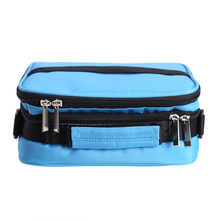 Blue 42 Sub-bottle Portable Storage Bag Nail Polish Essential Oil Carrying Case Oganizer Makeup Bag with Oblique Shoulder Strap(China)