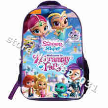 Custom Made Shimmer And Shine Backpack Shoulderbag Pencil Bag Games Pokemon Train UT FNAF TV Show Animal Boys Bags Girls School(China)