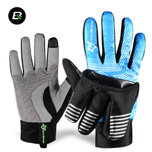 2016 ROCKBROS 2 Modes Winter Windproof Wind Cover Cycling Bike Bicycle Gloves Waterproof Touch Screen Fleece Warm Gloves Guantes