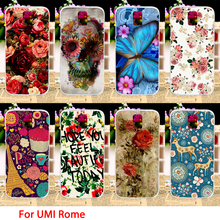 Soft TPU Phone Cases UMI Rome X 5.5 inch Case Flowers Rose Smartphone Covers Housings Sheaths Skins Shields Hoods - 3C Accessories Shops Store store