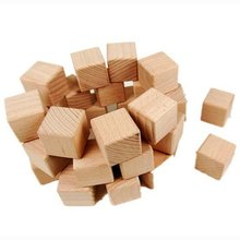 20PCS/LOT,High quality 3cm wood cube,Building blocks,Early educational toys,Novelty block.Kids toys,Freeshipping.Wholesale.(China)
