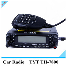 TYT TH-7800 Car Radio Walkie Talkie TH7800 Dual Band 136-174/400-480MHz 50W VHF/ UHF Mobile Radio high powered walkie talkies