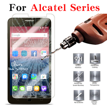 9H 2.5D Tempered Glass For Alcatel POP 2 4 4S Star C3 C5 C7 C9 Idol 3 4.7'' 5.5'' POP 2 4.5'' 5'' Screen Protector Film Cover(China)
