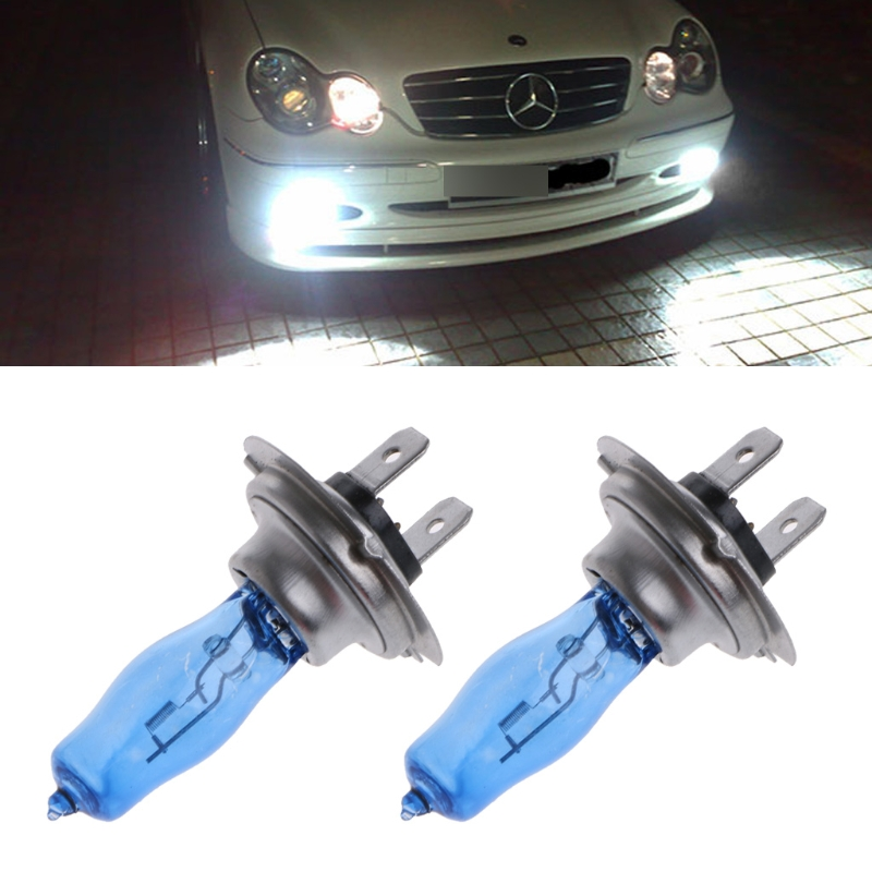 1 Pair H7 55W 12V HOD Xenon White 6000k Halogen Car Head Light Globe Bulb Lamp Drop