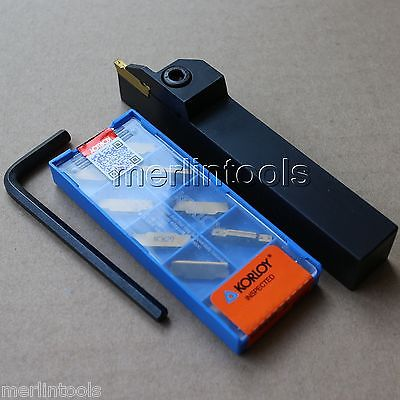 20mm Shank Cut-Off Parting Tool + 10pcs MGMN300-M NC3020 Carbide Inserts<br><br>Aliexpress