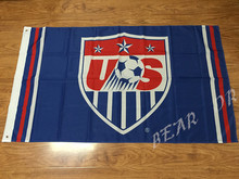3X5FT Team USA soccer banner flag football Flag Custom free shipping 100D(China)