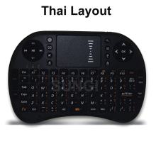 Thai version Language Mini Wireless Keyboard 2.4GHz Air Remote Mouse Control Touchpad For Android TV Box Tablet PC