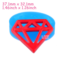 PYL539U 37.1mm Jewel Mold - Diamond Silicone Mold Cupcake Toppers, Fondant Craft, Resin, Fimo Clay, Dollhouse, Food Grade Mold