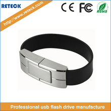 Promotional gift man hand band usb 2.0 8GB 16GB 32GB wristband leather bracelet usb flash drive