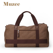 High Quality Large Capacity Travel Bag New Fashion Multifunctional Canvas Travel Duffle Casual Tote Single Shoulder Bag ME_1356(China)