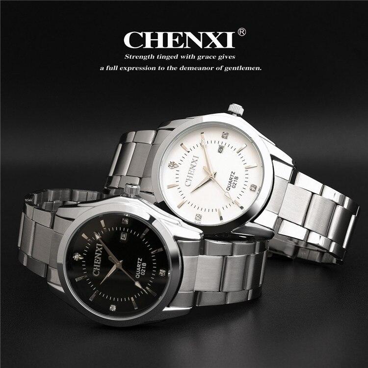 CHENXI brand waterproof watches women men gifts stainless steel couples Automatic calendar wristwatches CX-021B<br><br>Aliexpress