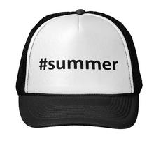 #summer Letters Print Baseball Cap Trucker Hat For Women Men Unisex Mesh Adjustable Size Black White Drop Ship M-74(China)
