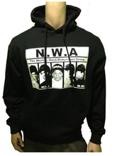 NWA Rap Group Retro Streetwear Matches Jordan Sneakers Mens Black Hoodie Sweatshirt Custom Man Long Sleeve Pullover Size S-3XL(China)