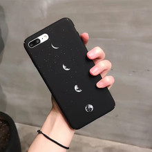 Cool Case Moon Bling sand hard Mobile Phone Cases for iPhone 6 6s 6plus 6sPlus 7 7Plus Case  Shell Back Cover Protective Skin