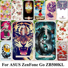 Silicone Plastic Phone Cases For ASUS ZenFone Go ZB500KL ZB500KG 5.0 inch Housing Bag Cover For Asus ZenFone Go ZB500KL Case