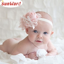 SunWard Newly Design Lovely Rhinestone Hair Accessories Unusual Angel Girls Little Pearl Flowers Hairband Headbands June30