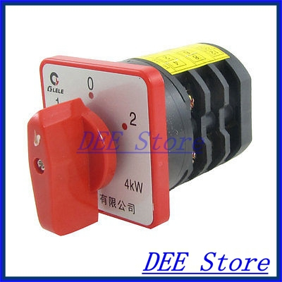 AC 380V 20A 4KW on/off/on Rotary Cam Universal Changeover Switch<br><br>Aliexpress