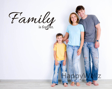 Family is Forever Love Family Quote Wall Sticker Decorating DIY Family Forever Lettering Quote Modern Wallpaper Living Room Q24