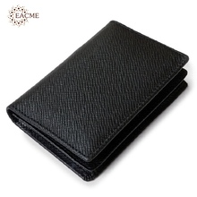 Wholesale Real Leather Business Card Holder Men Mini Card Wallet Credit Card Holder Fold Gentleman ID Money Cards Pack Cheap NEW(China)