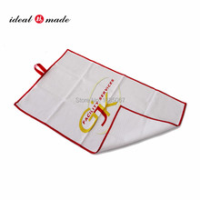 Microfiber custom super cheap gym towels with logo digital printed golf ball cleaning towel
