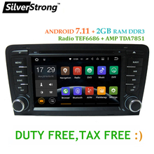 Latest Android 7.11 2DIN Car DVD for For Audi A3 2003 2004-2011 car dvd gps for Audi with DAB,TPMS,DVR