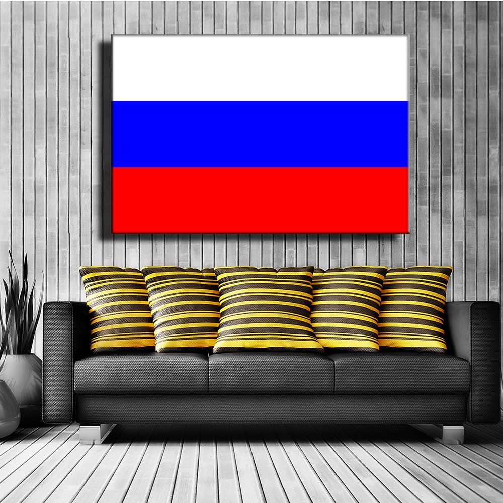 Flag Of Russia France Italy Spain India Canvas Print Painting Wall Art Picture For Corridor Of School Museum Decor Unframed(China (Mainland))