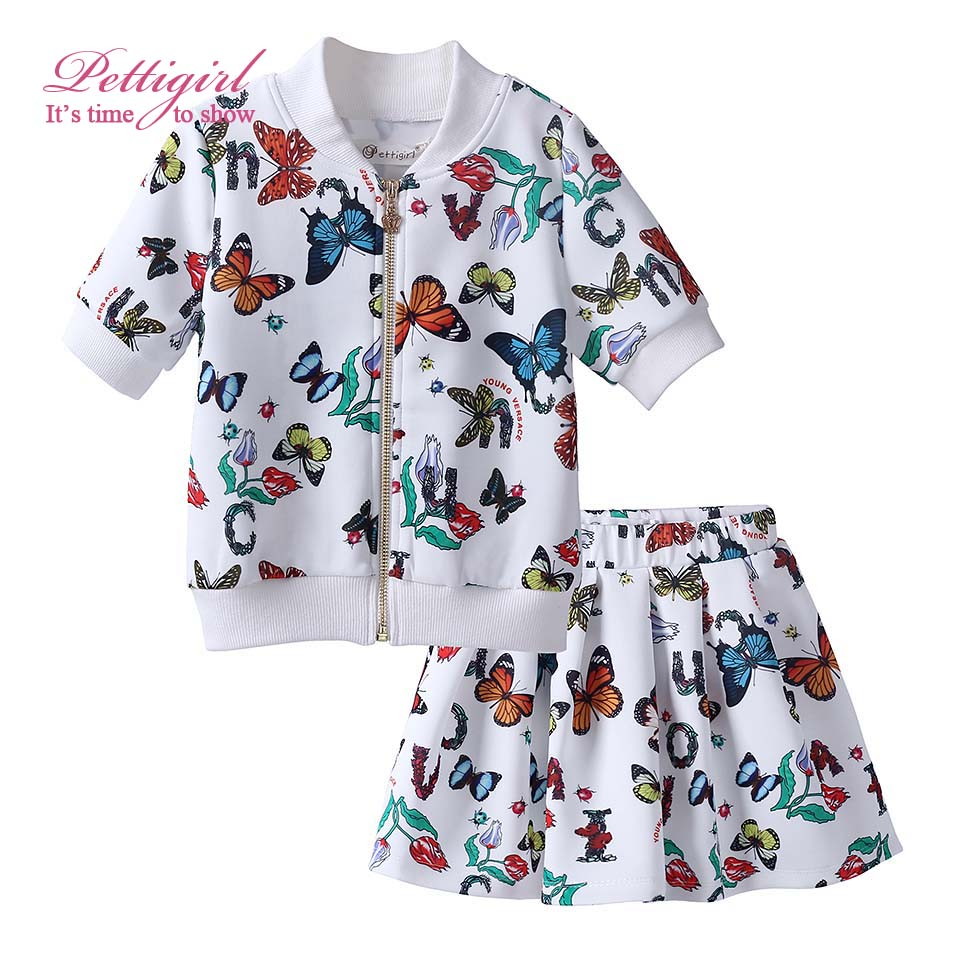 2017 New Girl Clothing Set Print Tops and Pink Shorts Girls Clothes Kids Wear DMCS81016-3Y<br><br>Aliexpress