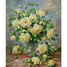 Needlework DIY resin 5D square diamond cross stitch Diamond painting full embroidery Yellow Flowers Pattern diamond mosaic Y88