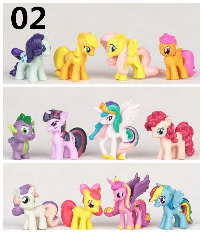 12 Pcs/SET cute little pvc  horse Sets Toys For Children Gift,Cartoon Children Action Figure Vinyl Doll Toys<br><br>Aliexpress