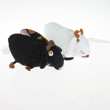 2X how to train your dragon 4inch White & Black Sheep Stuffed Animal Plush Toy