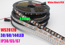 1m/5m WS2812B 30/60/74/90/96/144 pixels/leds/m Smart led pixel strip,Black/White PCB,WS2812 IC;WS2812B/M ,IP30/IP65/IP67 DC5V(China)