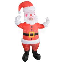 Santa Claus Inflatable Costume Suit Adult Christmas Fancy Dress(China)