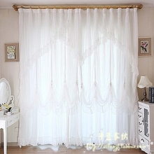 Quality curtain finished products lace curtain white curtain customize for living room bed room blind home textile home decor