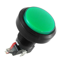 THGS-12V DC LED Light Illuminated Green Round Momentary Push Button Switch 1 NO 1 NC
