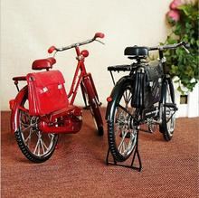 New model inflatable lighter bike vintage postman bicycles model with briefcase creative crafts ornaments memorial gifts(China)