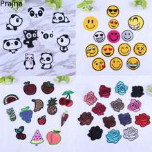 Prajna Christmas Badges Flower Rose Patch Emoji Stickers DIY Hotfix Motifs Sewing On Appliques High Quality Iron On Transfers F(China)
