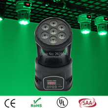 (1 pieces/lot) moving head light led wash mini rgbw 7x12w moving head light dmx512 14channel from china moving head for dj light
