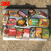 Snack Food Biscuit Potato Chips Can Supermarket Stuff Funny Car Styling 3M Grey Sticker Bicycle Trolley Laptop Ipad Doodle Decal