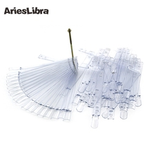 AriesLibra Natural & Clear Plastic False Nail Art Display 50tips/pack Practice for Professional Nail Art Workings Show