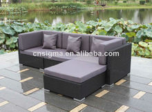 All weather outdoor rattan luxury garden sofa bed