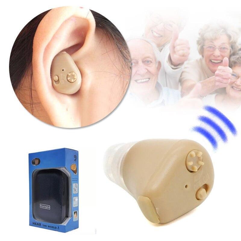 K-88 Rechargeable Ear Hearing Aids Sound Amplifier Audiphone AXON Mini Digital Hearingphone Adjustable Digital for Elderly Deaf<br>