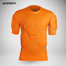2017 New men sport safety protection thicken gear Rugby soccer goalkeeper jerseys knee pads tops elbow football padded protector