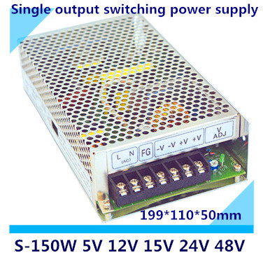 LED switching power supply S-150,150W single output,AC input, output voltage 5V,12V.15V,24V,48V transformer can be selected<br>